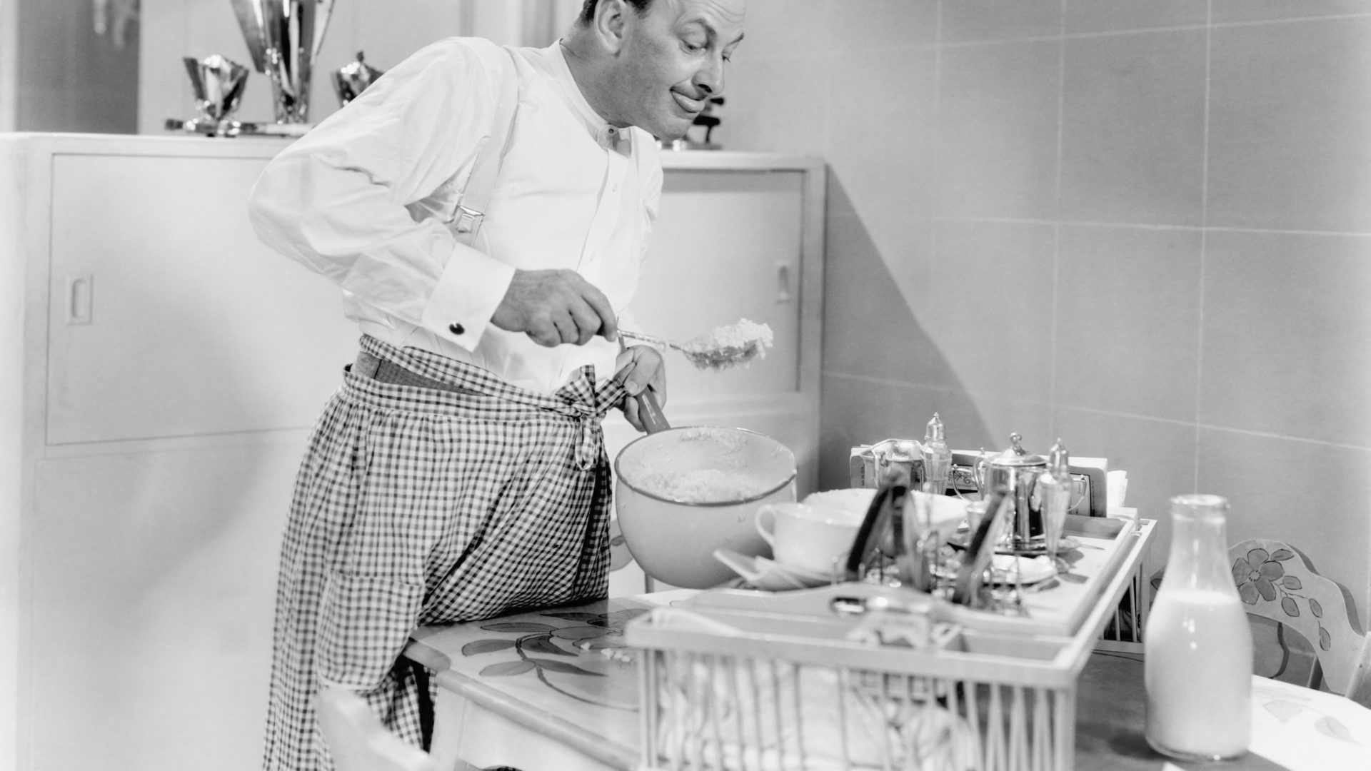 Man preparing food in a kitchen